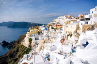 Oia Bathing in Morning Light